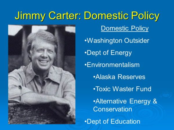 Washington Outsider. Dept of Energy. Environmentalism. Alaska Reserves. Toxic Waster Fund. Alternative Energy & Conservation. Dept of Education.